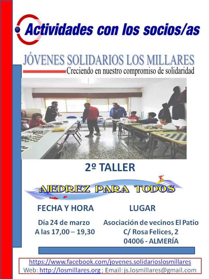 """Continuamos con el 2º taller de ajedrez para todos los niveles @ Asociación de vecinos """"El Patio"""""""