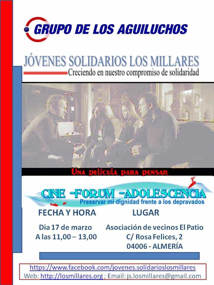 Cine-forum para adolescentes: Continuamos @ Asociación de Vecinos El Patio